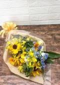 ひまわり ガーベラ 黄色系花束