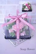 フレグランスソープフラワー ミニスモーキーピンクケーキ