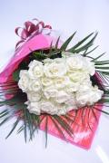 バラ 白30本 素敵 花束