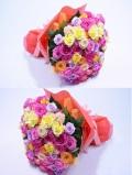 バラ カラフル100本 花束【予約商品】