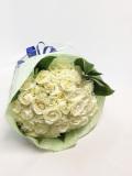 白バラ 50本 豪華  花束