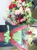 バラ 赤ピンク系 花束