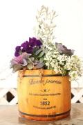 季節の寄せ植えギャザリング 樽アレンジ 中(要予約商品)
