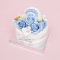 フレグランスソープフラワー デコレーションケーキ ブルー