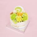 フレグランスソープフラワー デコレーションケーキ グリーン