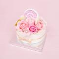 フレグランスソープフラワー デコレーションケーキ ピンク