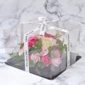 フレグランスソープフラワー フラワーケーキ ローズピンク