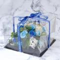 フレグランスソープフラワー フラワーケーキ ブルー