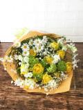 黄色バラ 黄緑白系花束
