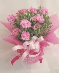 ピンク カーネーション 鉢植え バルーン付き