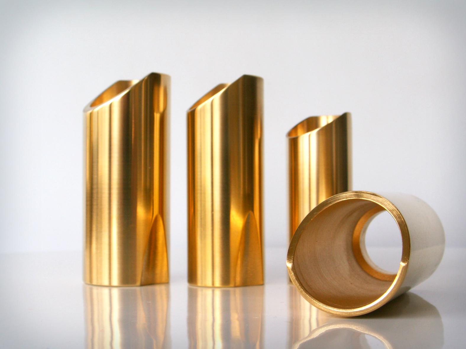 Polished Brass Rock Slides