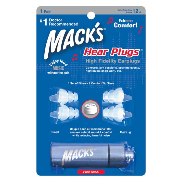 Mack's Hear Plugs /音楽専用耳栓 【メール便可】