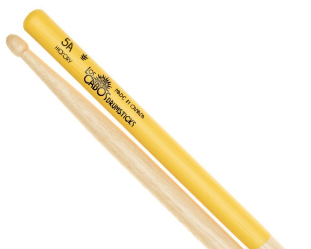 LosCabos White Hickory Drumstick 5A Yellow Jacket 2ペアセット