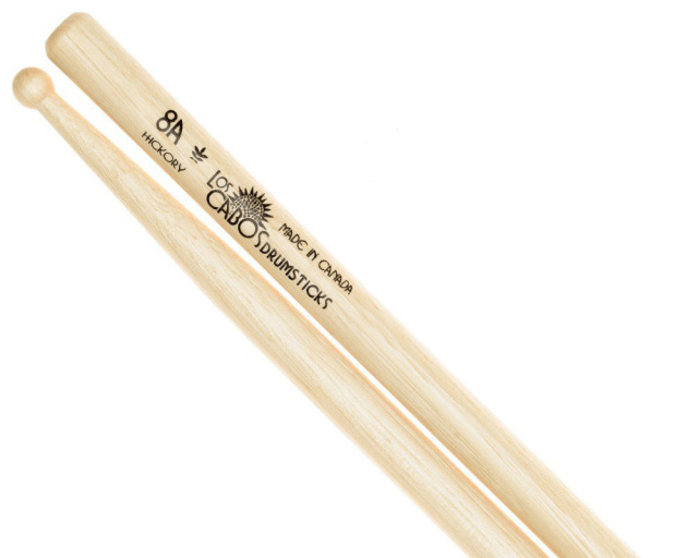 LosCabos White Hickory Drumstick 8A 2ペアセット