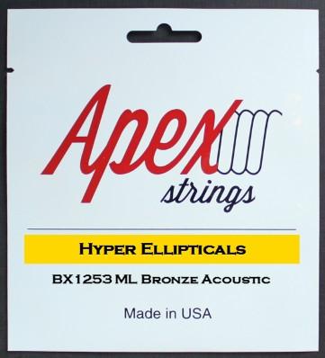 【特価】Apexストリングス Hyper-Ellipticals Acoustic String  BX1253 【メール便可 】