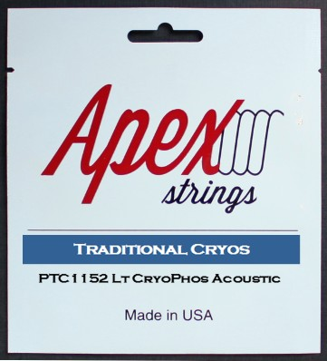 【特価】Apexストリングス TraditionalCRYOS Acoustic String  PTC1152 【メール便可 】