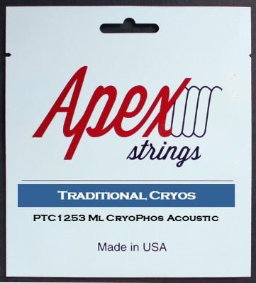 【特価】Apexストリングス TraditionalCRYOS Acoustic String  PTC1253 【メール便可 】