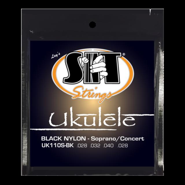 SITストリングス ブラックナイロン ウクレレ弦 UK110S-BK 【メール便可】