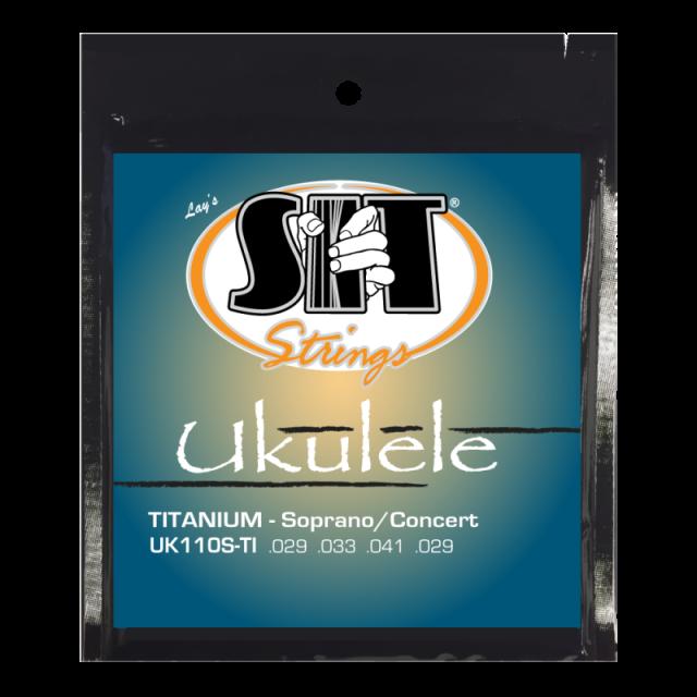 SITストリングス チタニウムナイロン ウクレレ弦 UK110S-TI  【メール便可】