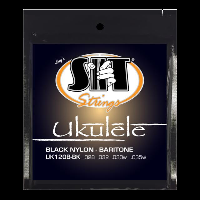 SITストリングス ブラックナイロン バリトン・ウクレレ弦 UK120B-BK 【メール便可】