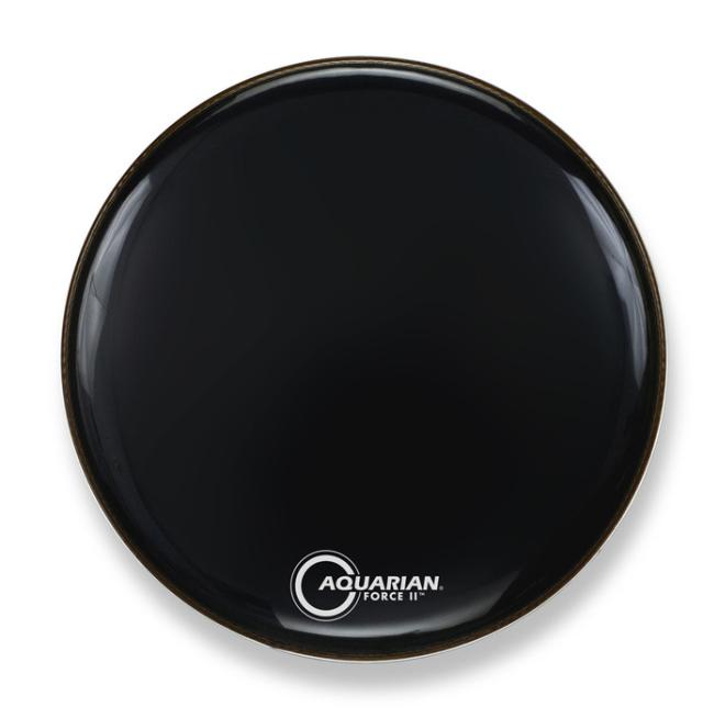 AQUARIAN Drumhead Force II Gloss Black /1プライ