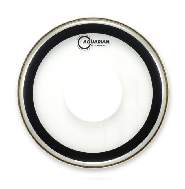 AQUARIAN Drumhead Performance II Clear w/Power Dot /2プライ