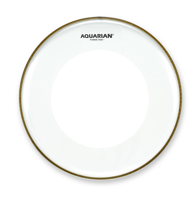 AQUARIAN Drumhead Power-Thin Clear w/Dual Power-Thin Dots /1プライ