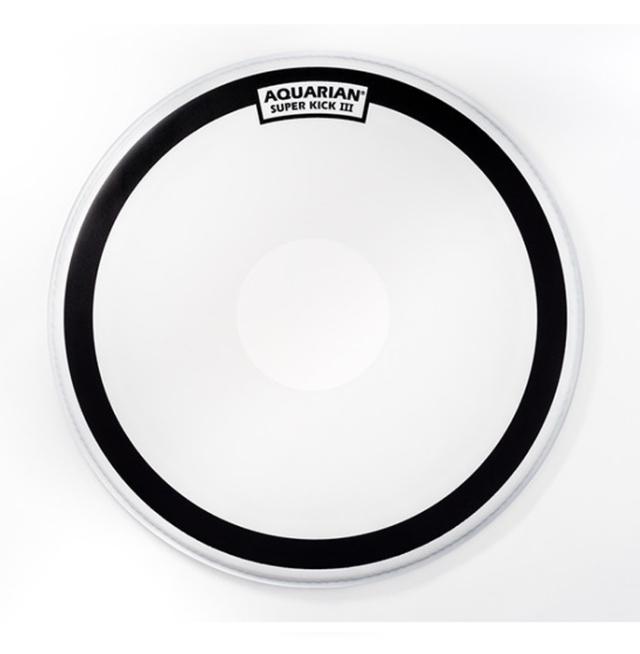 AQUARIAN Drumhead Super Kick III Coated /1プライ