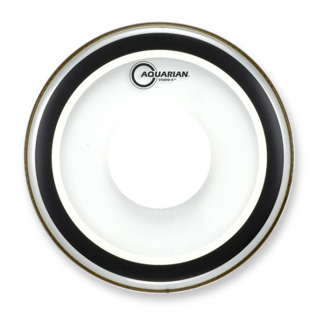 AQUARIAN Drumhead Studio-X Clear w/Power Dot /1プライ