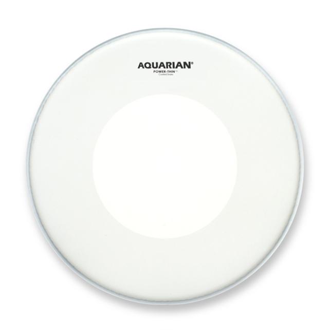 AQUARIAN Drumhead Power-Thin Coated w/Power-Thin Dot /1プライ