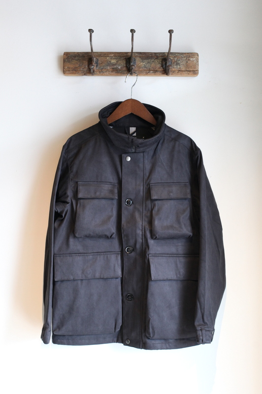 JOHNBULL ジョンブル | SUEDE UTILITY JACKET with TETRATEX -BLACK-
