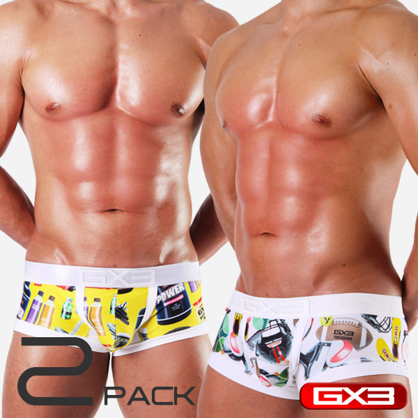 2PACK GX3 SUPER PRINT 2 SPORTS GEAR BOXER ボクサー(2枚セット)