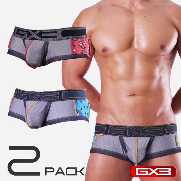 2PACK GX3 DENIM DX SIDE SWITCH BOXER ボクサー(2枚セット)