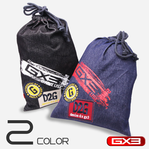 GX3 DENIM DX DRAWSTRING BAG