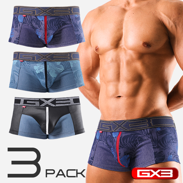 3PACK GX3 DENIMIX BOTANICAL BOXER ボクサー(3枚セット)