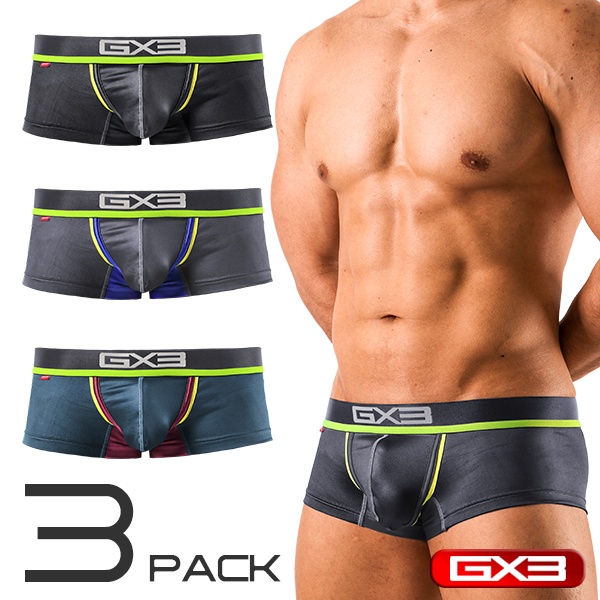 3PACK GX3 NEON BASIC BOXER ボクサー(3枚セット)