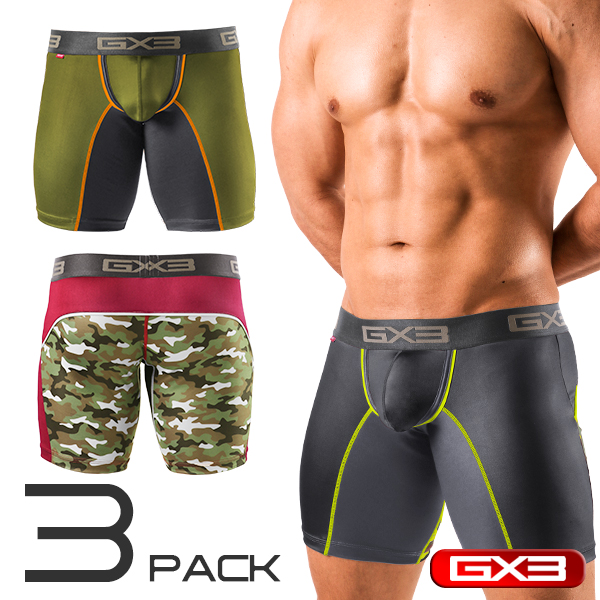 3PACK GX3 NEON ARMY LONG BOXER ボクサー(3枚セット)
