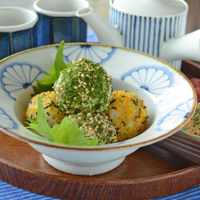 和食器・砥部焼 菊文の縁付鉢(6寸)