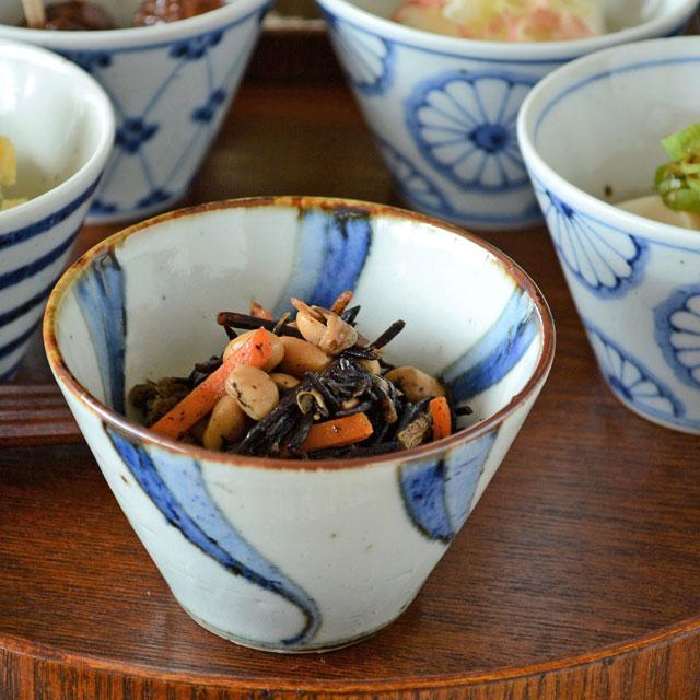 和食器・砥部焼 ねじり文の小鉢(小)