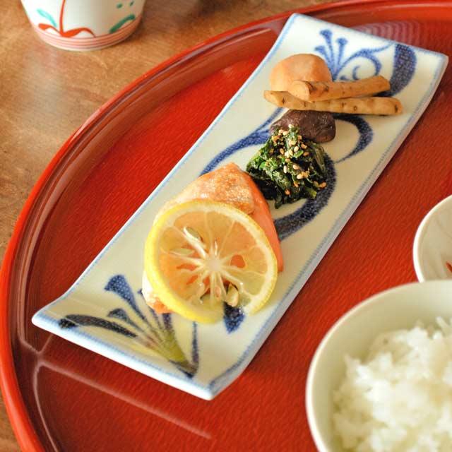 和食器・砥部焼 梅山窯の長方皿