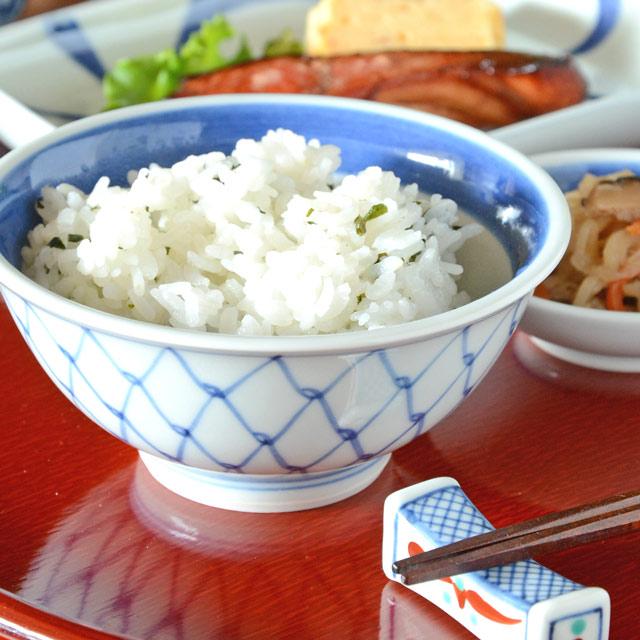和食器・砥部焼 網目の反茶碗(3.6寸)