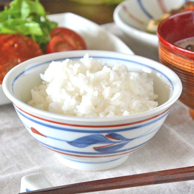 和食器・砥部焼 みつ葉の反茶碗(3.6寸)