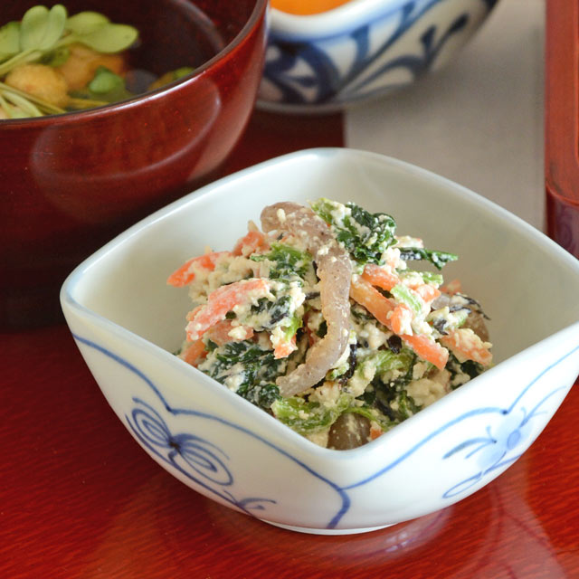 和食器・砥部焼 なずなの四方鉢(3寸)