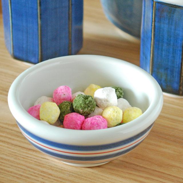和食器・砥部焼 ごす巻赤線の玉ぶち鉢(3寸)
