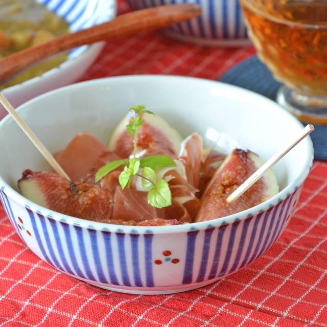 和食器・砥部焼 とくさみつ紋の多用鉢(4.7寸)