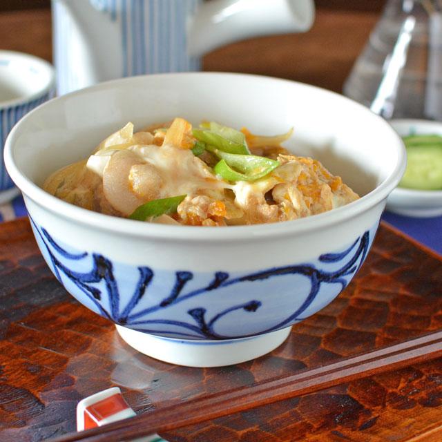和食器・砥部焼 だみ唐草の丼鉢(5.2寸)