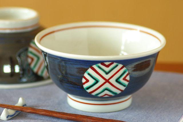 和食器・砥部焼 まるぬきの丼鉢(5寸)