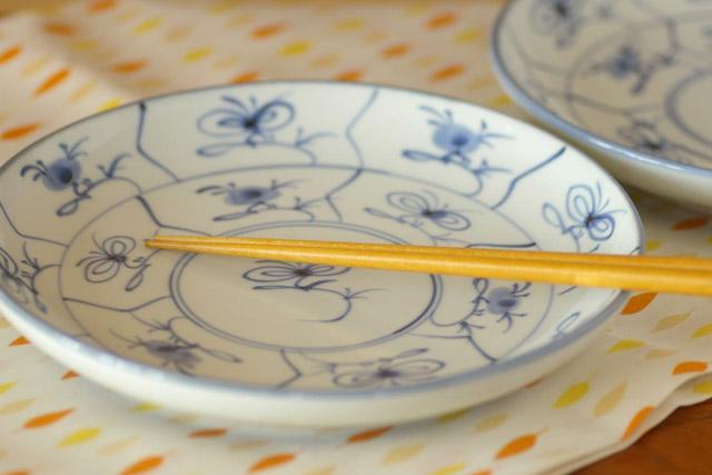 和食器・砥部焼 なずなの大皿