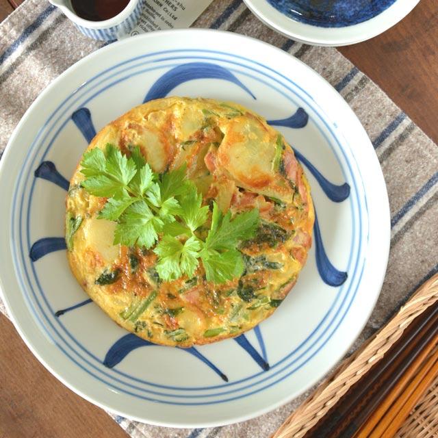 和食器・砥部焼 ひとつからくさの大皿(9寸)