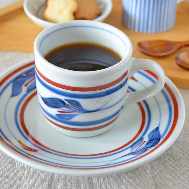 和食器・砥部焼 みつ葉の切立コーヒーカップ